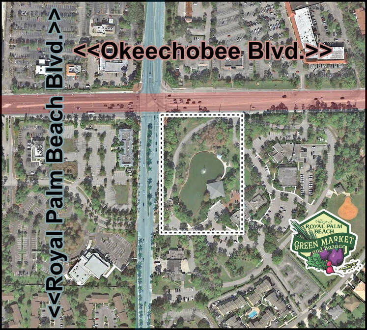 The RPB Green Market is located at the corner of Okeechobee and Royal Palm Beach Blvd.
